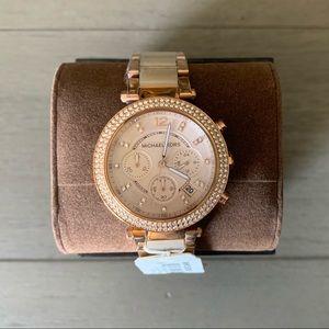 Michael Kors Rose Gold Tone MK5896 Wrist Watch